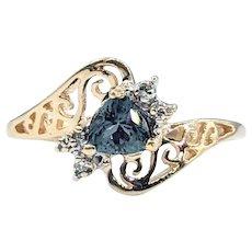Rare Alexandrite & Diamond Promise Ring