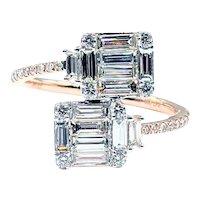 Unique Baguette & Brilliant Cut Diamond Fashion Ring