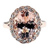 Enchanting Morganite & Diamond Cocktail Ring