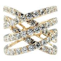 Dramatic Diamond & 14K Gold Dress Ring
