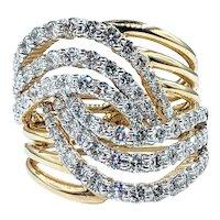 Splendid Diamond & 14K Gold Cocktail Ring