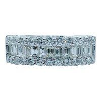 Sparkling Baguette Diamond Band Ring