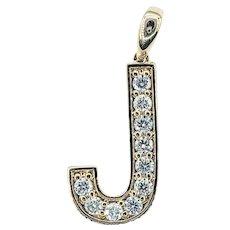 "Large Diamond ""J"" Pendant"