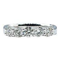 Glittering Diamond & White Gold Wedding Band