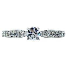 Tiffany & Co Brilliant Cut Diamond Engagement Ring - Platinum