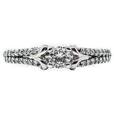 Refined Brilliant Cut Diamond Engagement Ring