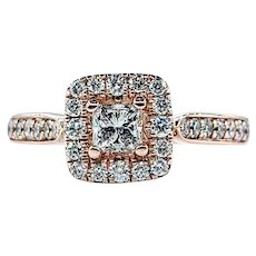 Gorgeous Diamond & 14K Rose Gold Engagement Ring