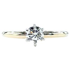 Classic Brilliant Cut Solitaire Engagement Ring