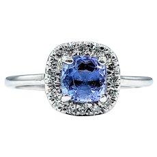 Bright Tanzanite & Diamond Dress Ring