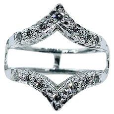 Vintage Diamond & Platinum Ring Enhancer