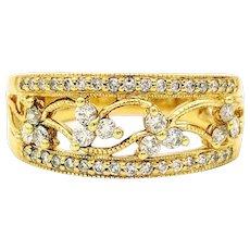 Helzberg .50 ctw Diamond Ring, 14K Yellow Gold