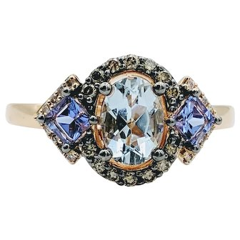 Vintage LeVian Rose Gold 14k Chocolate Diamond Ring