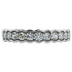 Helzberg 14k White Gold 1/2 ct Diamond Channel Ring