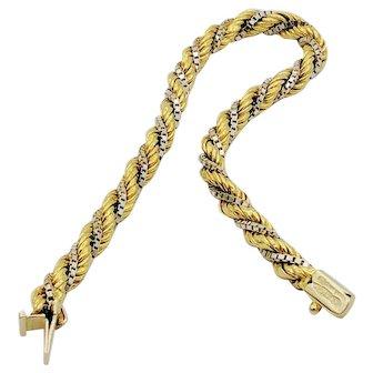 Vintage Italian 18k Two-Tone Chiampesan Bracelet