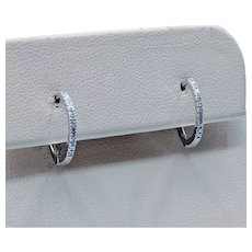 White Gold Diamond Earring Huggies