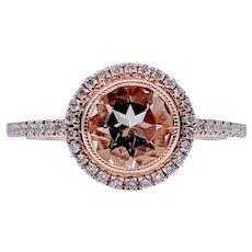 Morganite & Diamonds Ring