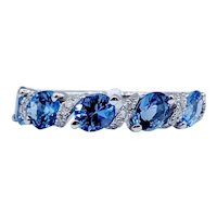 Tanzanite & Diamond Band