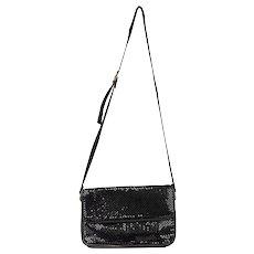Vintage Whiting & Davis Black Metal Mesh Shoulder Bag