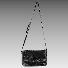Vintage Whiting & Davis Black Metal Mesh Shoulder Bag