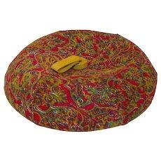 Vintage Sally Victor Beret - Tam, Corduroy Paisley, Hat Size 22