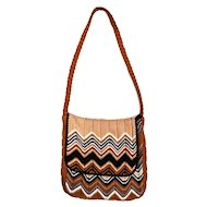 Vintage Missoni Zig Zag Handbag, Crossbody Messenger Bag from Ebony Fashion Fair
