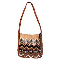 Vintage Missoni Zig Zag Handbag, Crossbody Messenger Bag from Ebony Fashion Fair