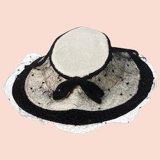 1940s Bonnet Revival Hat by New York Creations in Melusine & Velvet