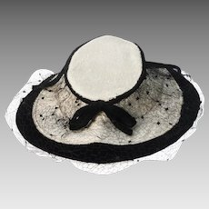 1940s Bonnet Revival Hat by New York Creations