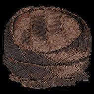 Vintage 1960s Neiman Marcus Pillbox Hat, Brown Pleated Silk, Hat Size 19.5
