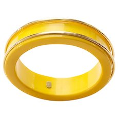 Vintage 1970s Dior Bangle, Yellow Lucite