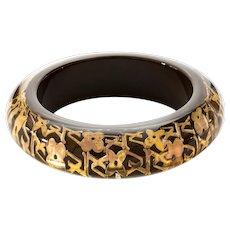 Louis Vuitton, Lucite Encased Logo Bangle Bracelet