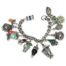 1950s Napier Chinese Lanterns, Charm Bracelet, Napier Jewelry Book Piece