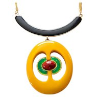 1970s Mod Pendant Necklace by Christian Dior
