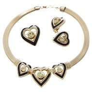 Christian Dior Heart Jewelry Set