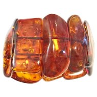 95gr Chunky Baltic Amber Bracelet Bangle Cuff