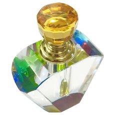 New Vintage Cut Crystal Perfume Bottle in Original Box