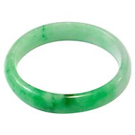 Rare Vintage Natural Color Jadeite Jade Bangle Apple Green