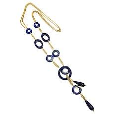 Lapis Lazuli Lariat Style Necklace