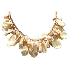 Pastel Color Mixed Freshwater Cultured Pearl Necklace