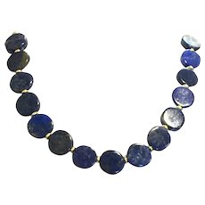 Lapis Lazuli Necklace with Matching Toggle Clasp