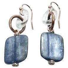 Kyanite and Clear Quartz Earring