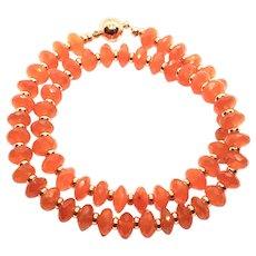 190ct Stunning Intense Orange Carnelian Necklace