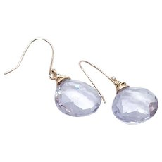 15 ct Lavender Amethyst Earring 14K GF and Vermeil