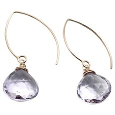 19ct Pink Lavender Amethyst Earring 14K GF and Vermeil