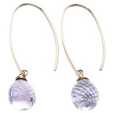 15ct Pink Lavender Amethyst Earring 14K GF and Vermeil