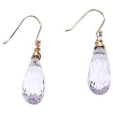 20ct Pink Lavender Amethyst Earring 14K GF and Vermeil