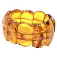 1960's 49Gr 100% Natural Honey Cognac Baltic Amber Bracelet Not Modified or Pressed