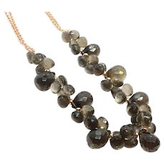 300ct High Quality Smoky Quartz Necklace