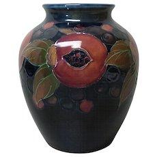 """William Moorcroft Art Pottery POMEGRANATE 6.25"""" Vase, c. 1918-20"""