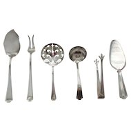 (6) Assorted Gorham FAIRFAX Sterling Silver Servers, No monograms, 150 grams